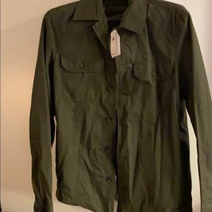 Olive shirt jacket from BR